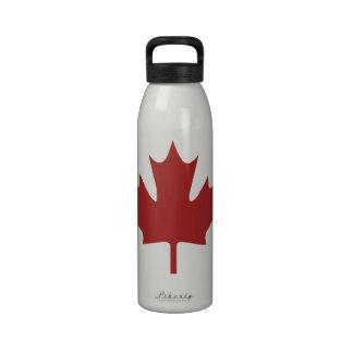Red Maple Leaf Water Bottle