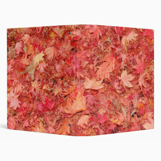 RED MAPLE LEAVES 3 RING BINDER