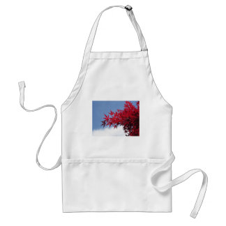 Red maple leaves against the blue sky adult apron