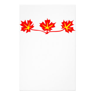 Red Maple Leaves Canadian Standard Symbol Stationery