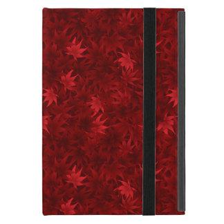 Red maple leaves pattern iPad mini case