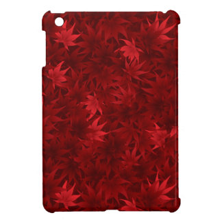 Red maple leaves pattern iPad mini covers