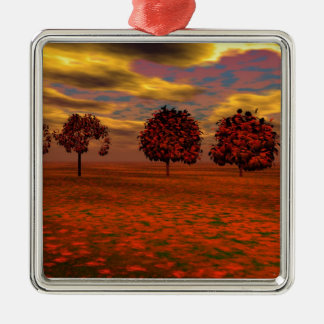 Red Maple Metal Ornament