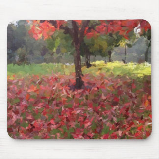 Red Maple Tree Photography Mouse Pad