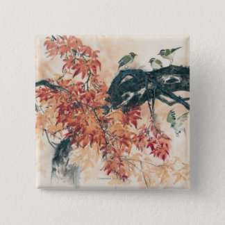 Red Maples Pinback Button
