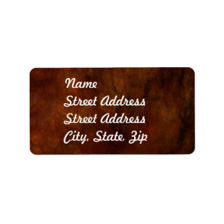 Red Marble Abstract Fractal Address Sticker Label