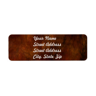 Red Marble Abstract Fractal Return Address Sticker Label