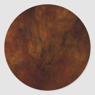 Red Marble Abstract Fractal Round Sticker