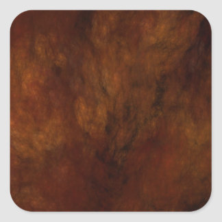 Red Marble Abstract Fractal Square Sticker