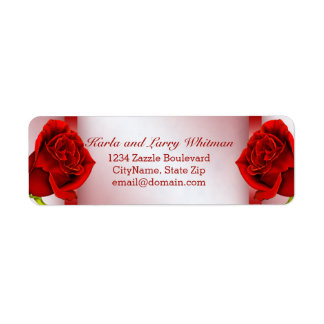 Red Marble and Roses Label