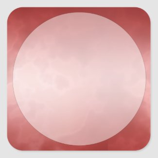 Red Marble Label Sticker Small Square