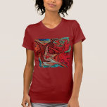 Red Marble Petite Top Tshirts