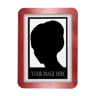 Red Marble Photo Magnet