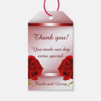 Red Marble Rose Gift Tags