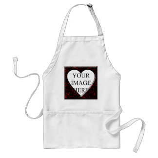 Red Marble Square Frame with Heart Aprons