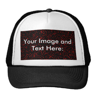 Red Marble Template Background Trucker Hat