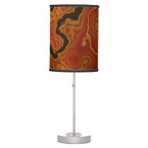 Red Marbled Easter Egg Table Lamp