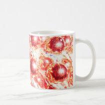 RED MARDI GRAS BEADS COFFEE MUG