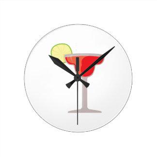 Red Margarita Round Clock