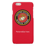 Red Marine Corps Phone Case with Official Seal