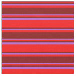 [ Thumbnail: Red, Maroon, and Orchid Colored Stripes Fabric ]