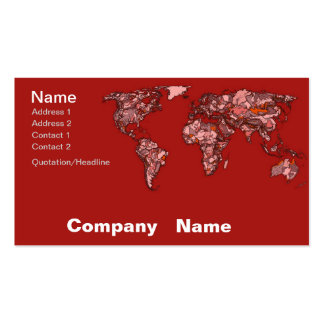 Red maroon atlas business card templates
