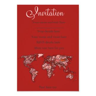Red maroon atlas card