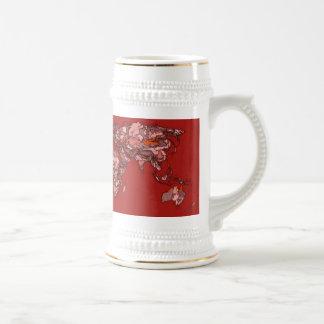 Red maroon atlas coffee mug
