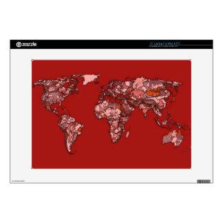 "Red maroon atlas skin for 15"" laptop"