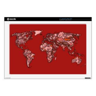 """Red maroon atlas 17"""" laptop skins"""