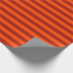 [ Thumbnail: Red & Maroon Striped Pattern Wrapping Paper ]