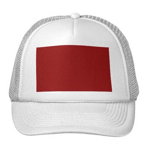 Red maroon trucker hat