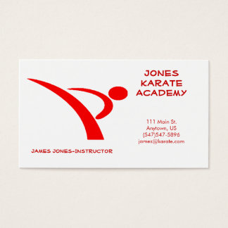 Red Martial Arts Instructor Business Card