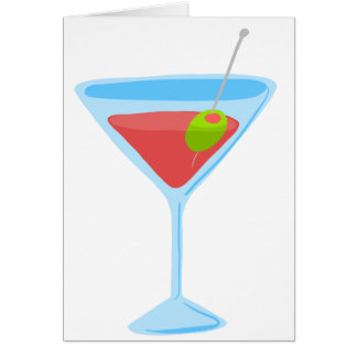 Red Martini Greeting Card