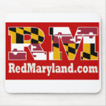 Red Maryland 2018 Logo Mouse Pad