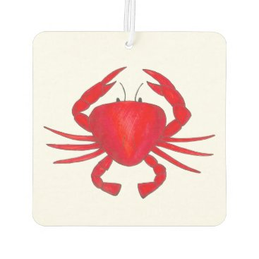 Beach Themed Red Maryland Bay Baltimore Crab Seafood Ocean Car Air Freshener