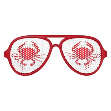Beach Themed Red Maryland Crab Crabs Beach Party Shades