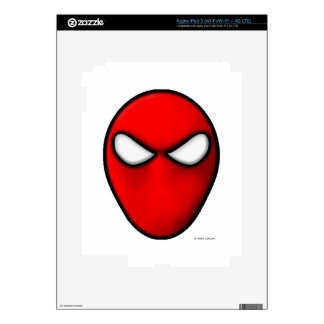 Red Mask iPad 3 Decals