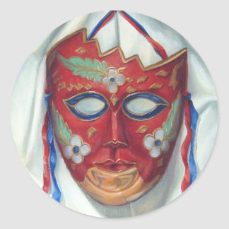 Red Mask Stickers