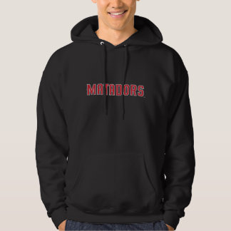 Red Matadors on Black Hoodie