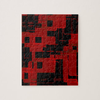 Red Matrix Camo (AOM Design) Jigsaw Puzzle