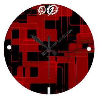 Red Matrix Camo (AOM Design) Large Clock