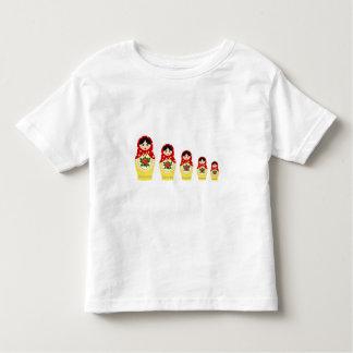 Red matryoshka nesting dolls toddler girl shirt
