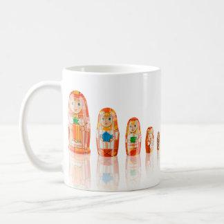 Red Matryoshka Russian Dolls Mug