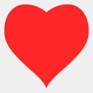 Red Matte Heart Sticker