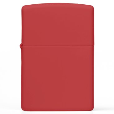 Beach Themed Red Matte Zippo Lighter