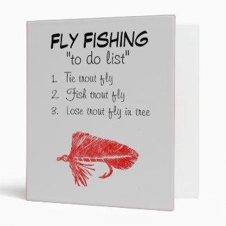 """Red Matuka-To Do List"" Fly Fishing Journal Binder"