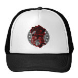 RED MAYAN HEAD CIRCLE PRODUCTS TRUCKER HAT