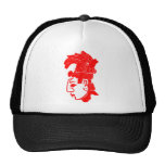 RED MAYAN T SHIRT TRUCKER HATS
