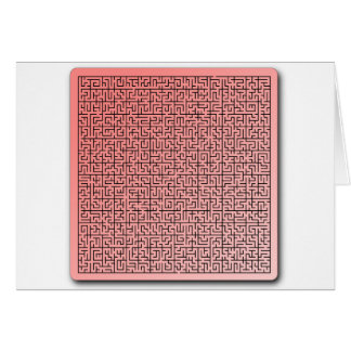 Red Maze Greeting Cards